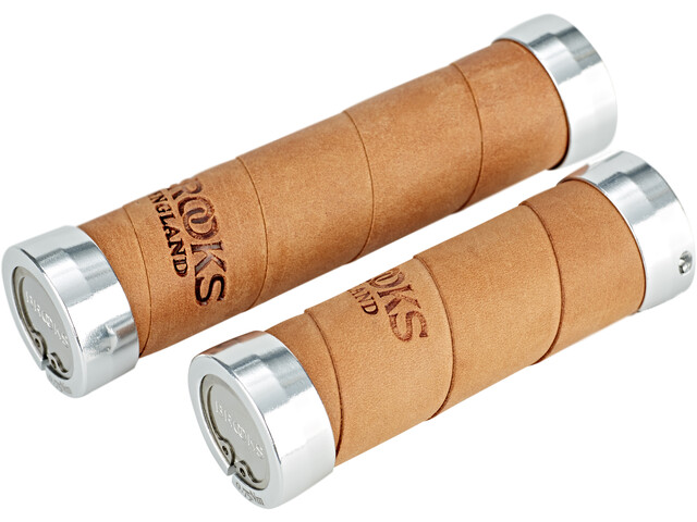 Brooks Slender Leather Handlebar Grips aged